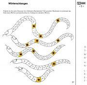 Wortschatzkästchen 3A: Wortlücken füllen