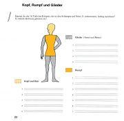 Wortschatzkästchen 3A: Körperteile den Oberbegriffen zuordnen