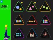 LOGO 1 – Übungsauswahl und Lernjournal. Die farbigen Linien zeigen den aktuellen Lernstand jeder Übung. Ein Stern heisst: Alle Stufen der Übung wurden perfekt gelöst.