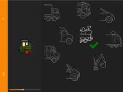 LOGO 3, Stufe 2 – Welche Teile gehören zusammen. Die Farbe in der Aufgabe unterstützt bei der Suche.