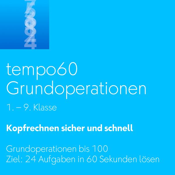 tempo60 Grundoperationen