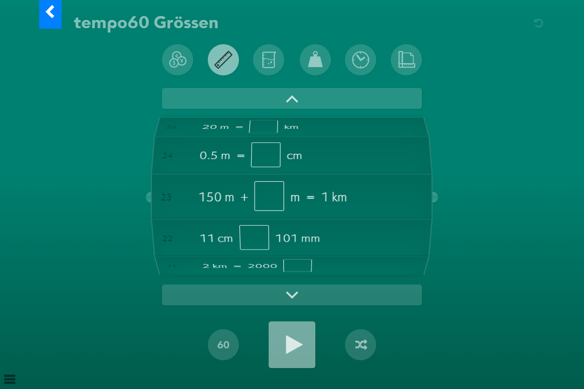 tempo60 Grössen – Startseite
