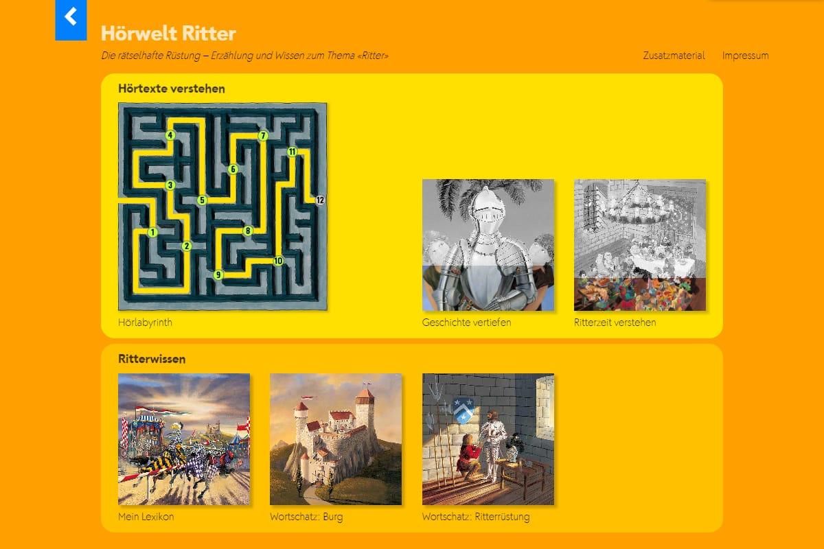 Hörwelt Ritter – Startseite und Lernjournal