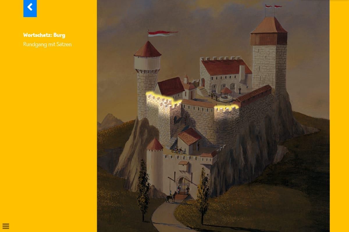 Hörwelt Ritter – Wortschatz Burg