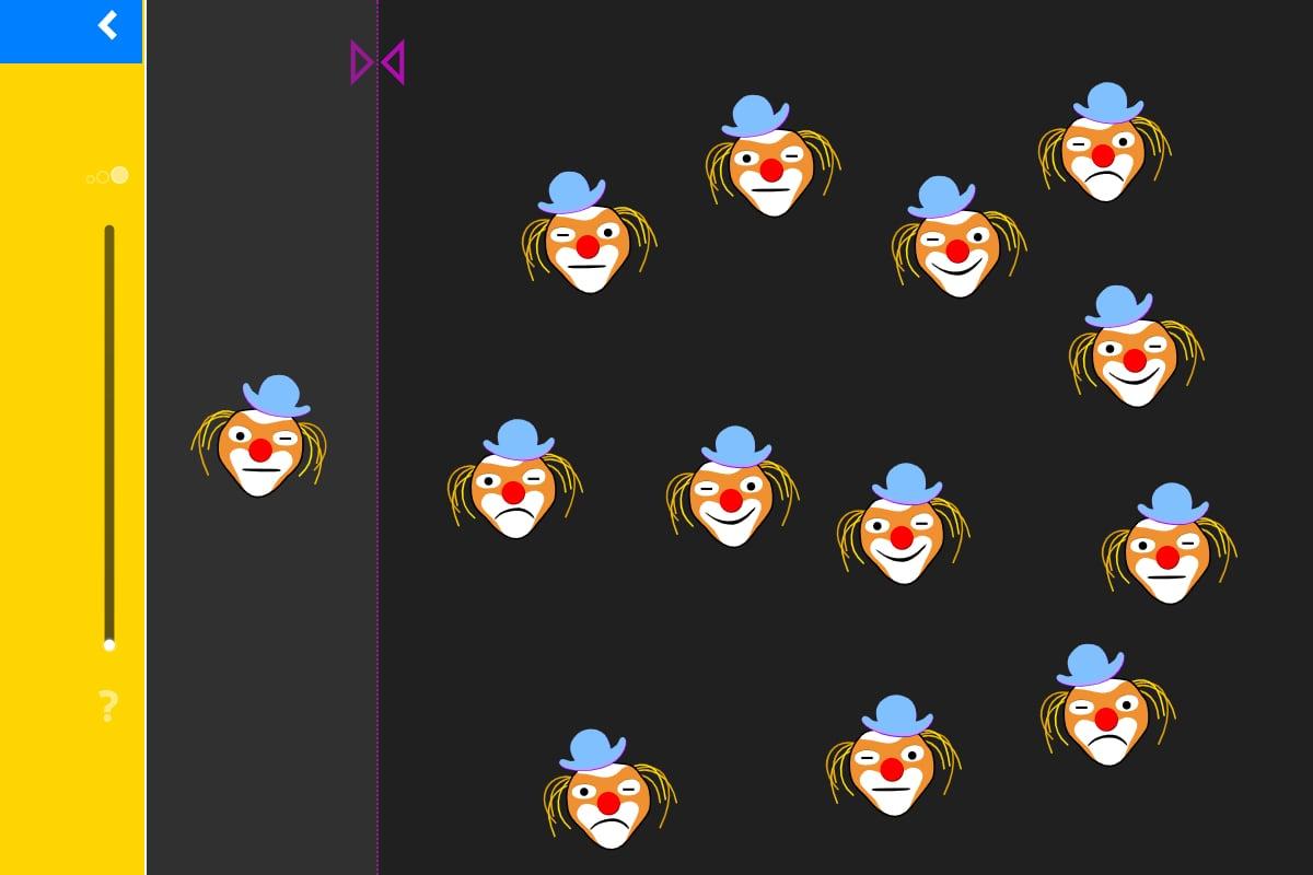 LOGO 7 – Übung 3: Finde das Spiegelbild des Clowns