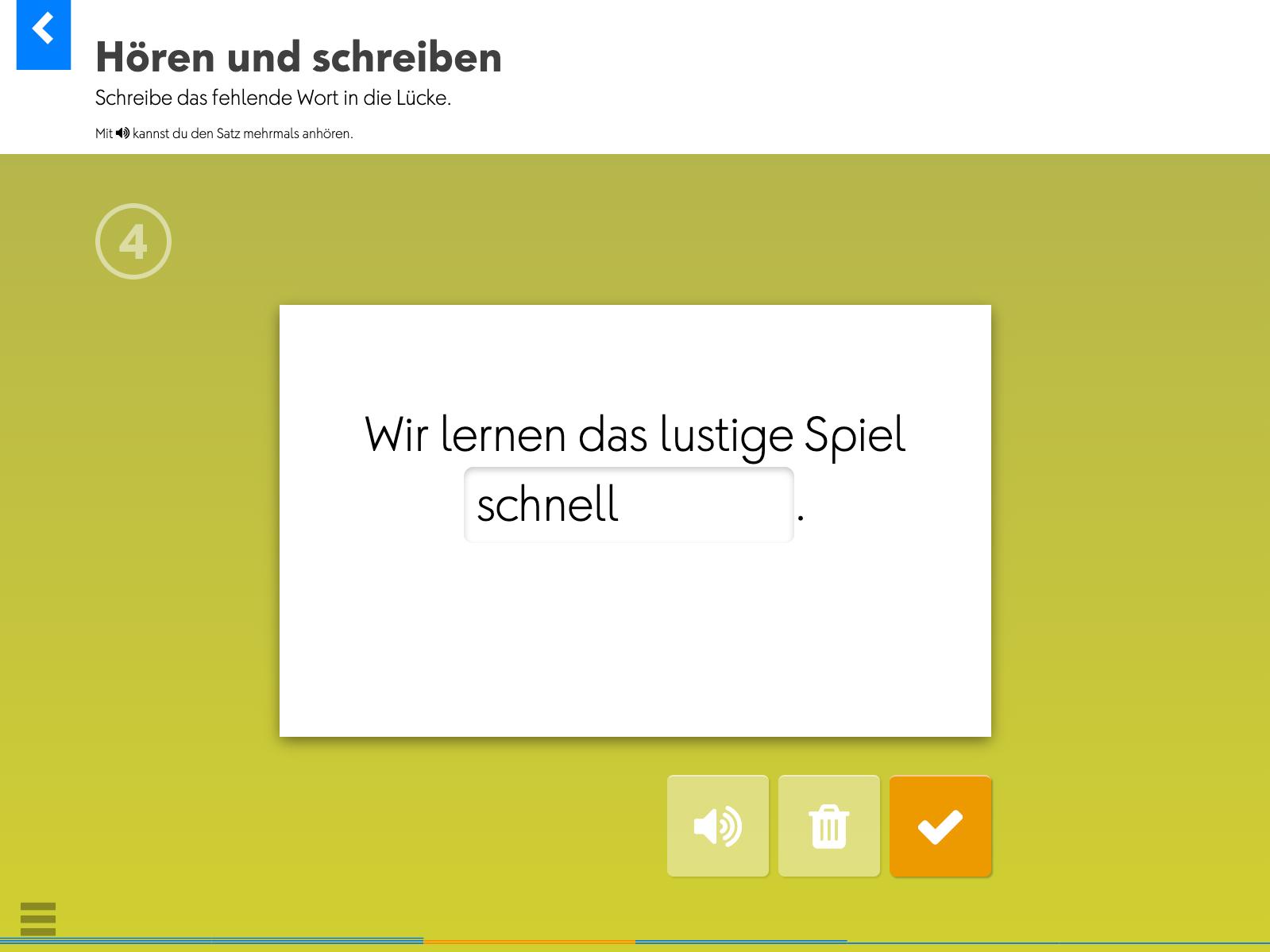 Wortkartei: Deutsch (Station 4) – Hören und schreiben
