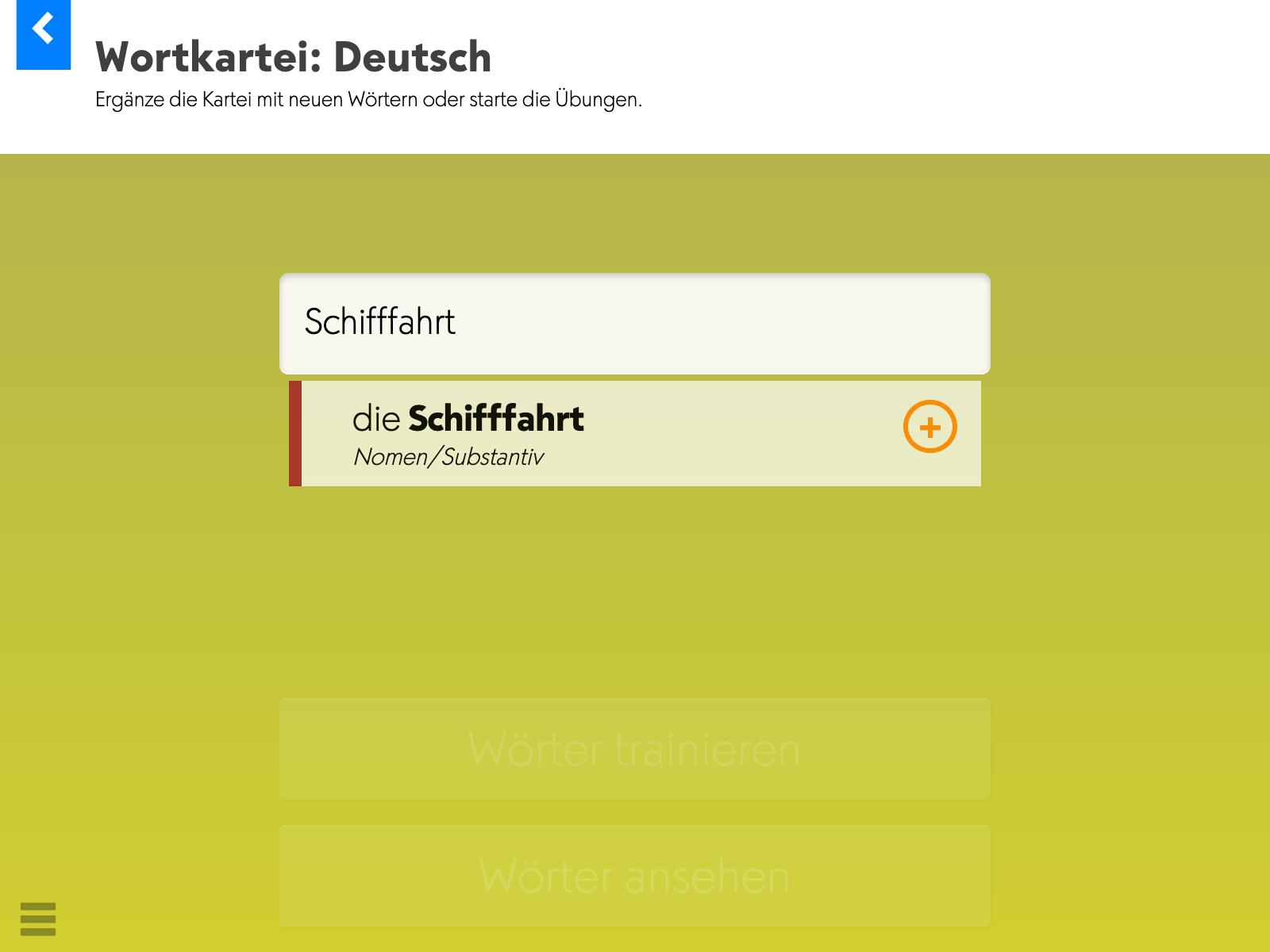 Wortkartei: Deutsch – Startseite