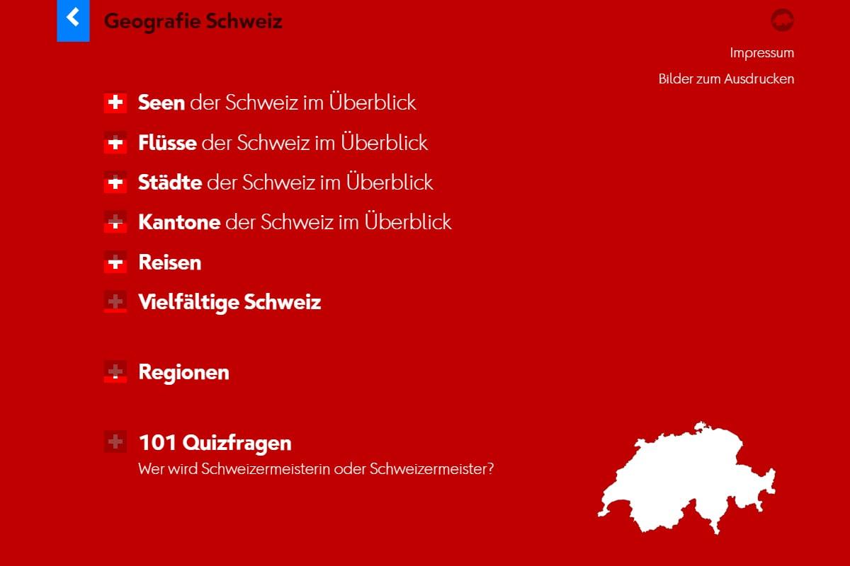 Startseite Geografie Schweiz